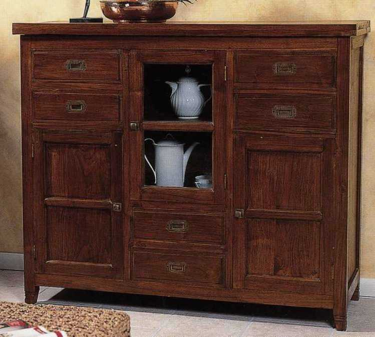 buffet etnico da 130 cm teak etnico outlet mobili etnici. Black Bedroom Furniture Sets. Home Design Ideas