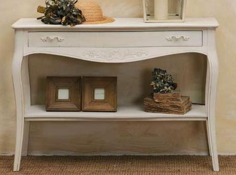 Consolle provenzale bianca mobili ingresso provenzali for Consolle bianca ingresso