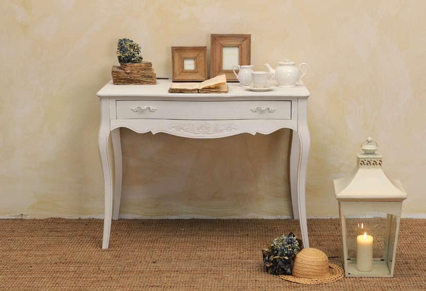 Scrivania Vintage Bianca : Consolle scrivania bianca scrivanie shabby