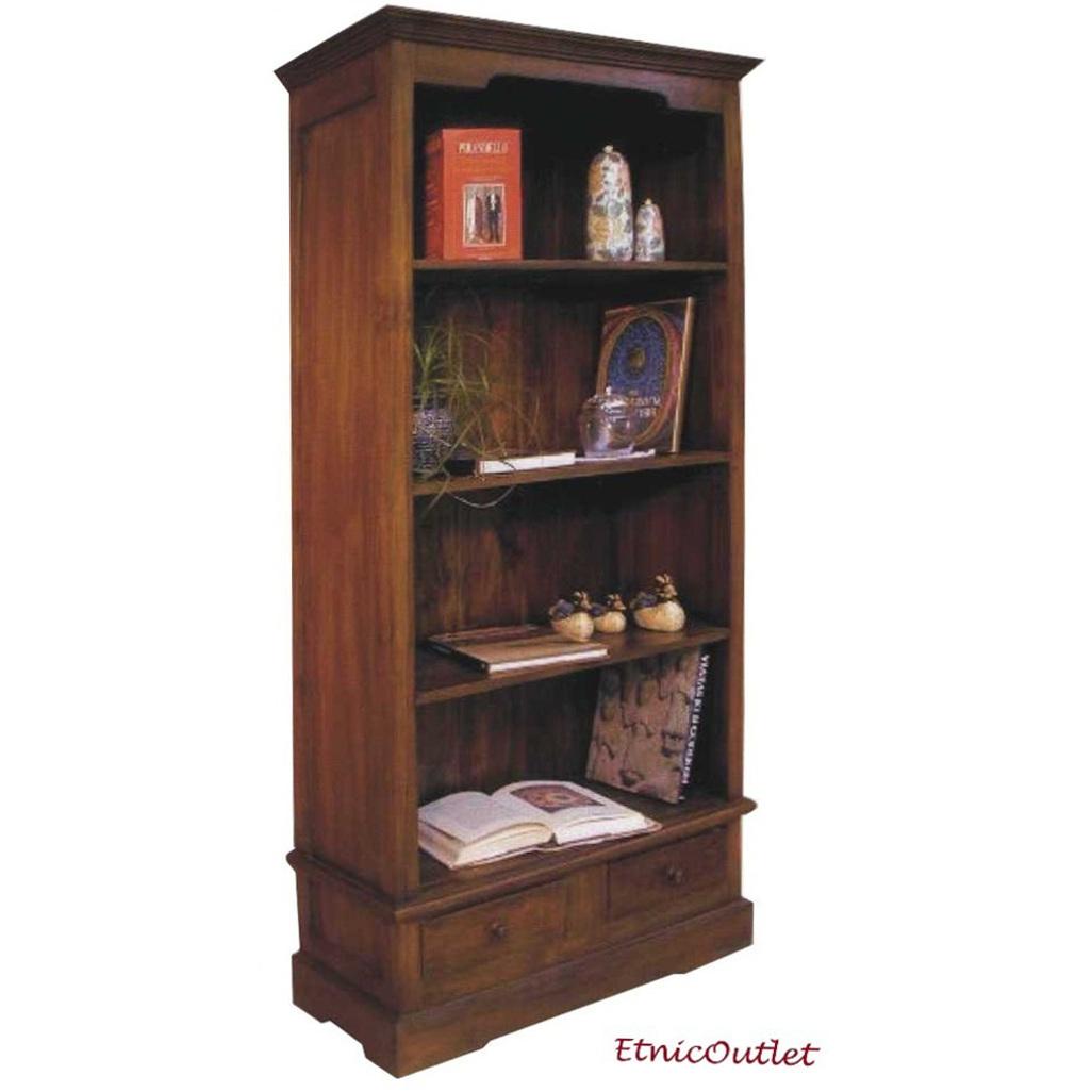 libreria etnica in legno massello mobili etnici librerie
