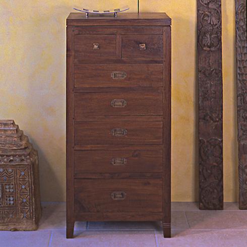Settimino etnico legno massello mobile 7 cassetti for Shop mobili online