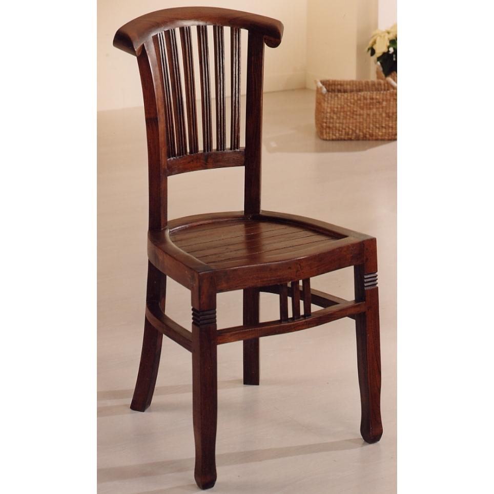 Sedia classica legno teak etnico outlet mobili etnici for Sedie in legno massello