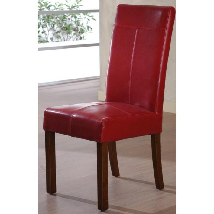 Sedia in ecopelle rossa sedie pelle online for Sedie in ecopelle