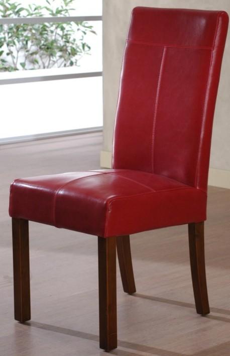 Sedia in ecopelle rossa sedie pelle online for Sedie on line outlet