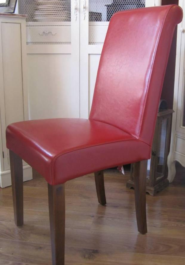 Sedia in ecopelle rossa sedie pelle rosse for Sedie in ecopelle rosse