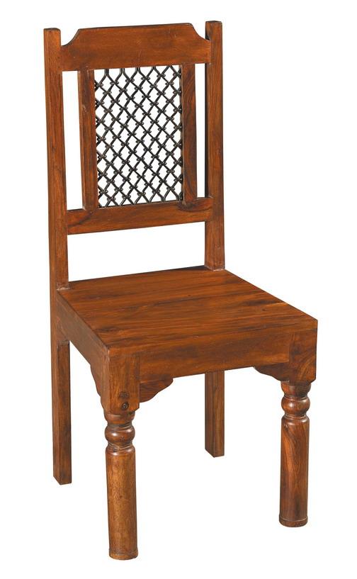 Sedia etnica in sheesham e ferro sedie etniche for Sedie in ferro e legno
