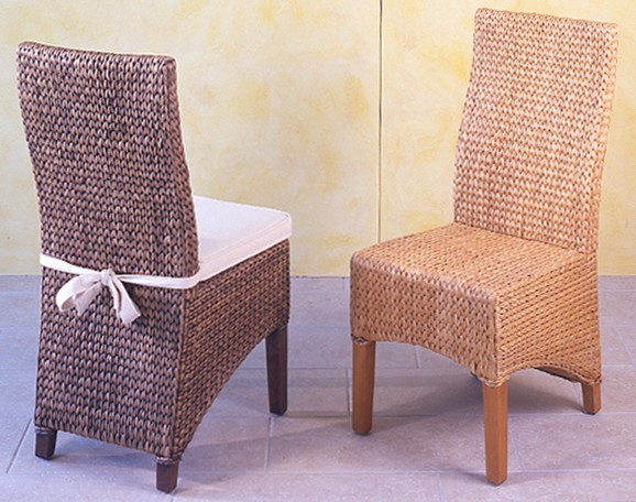 Sedie In Rattan Da Interno : Sedia in giacinto dacqua naturale sedie etniche
