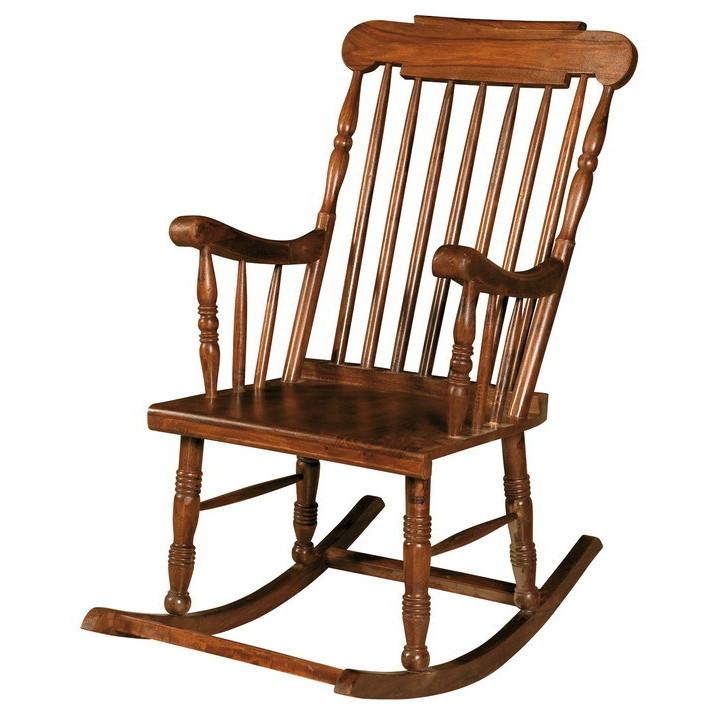 Sedia dondolo in legno - Etnico Outlet Mobili Etnici