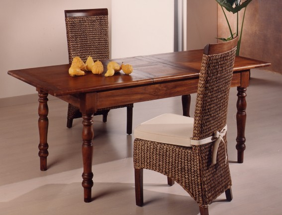 Tavolo legno provenzale teak etnico outlet mobili etnici - Tavoli pranzo legno ...