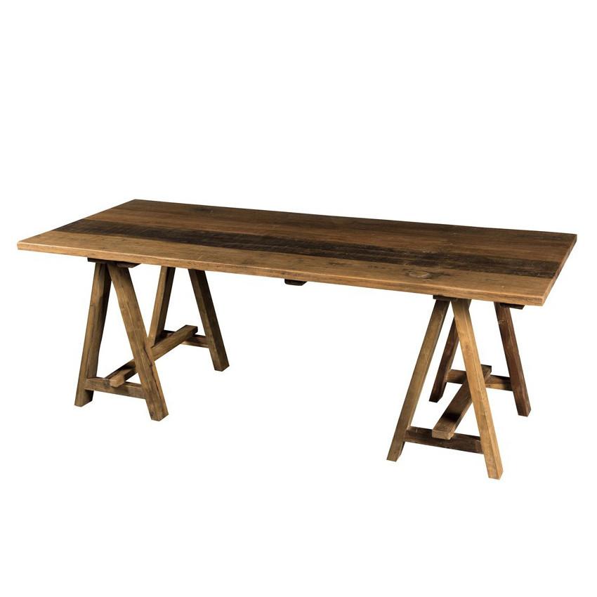 Tavolo cavalletti legno massello Tavoli etnici scontati Outlet