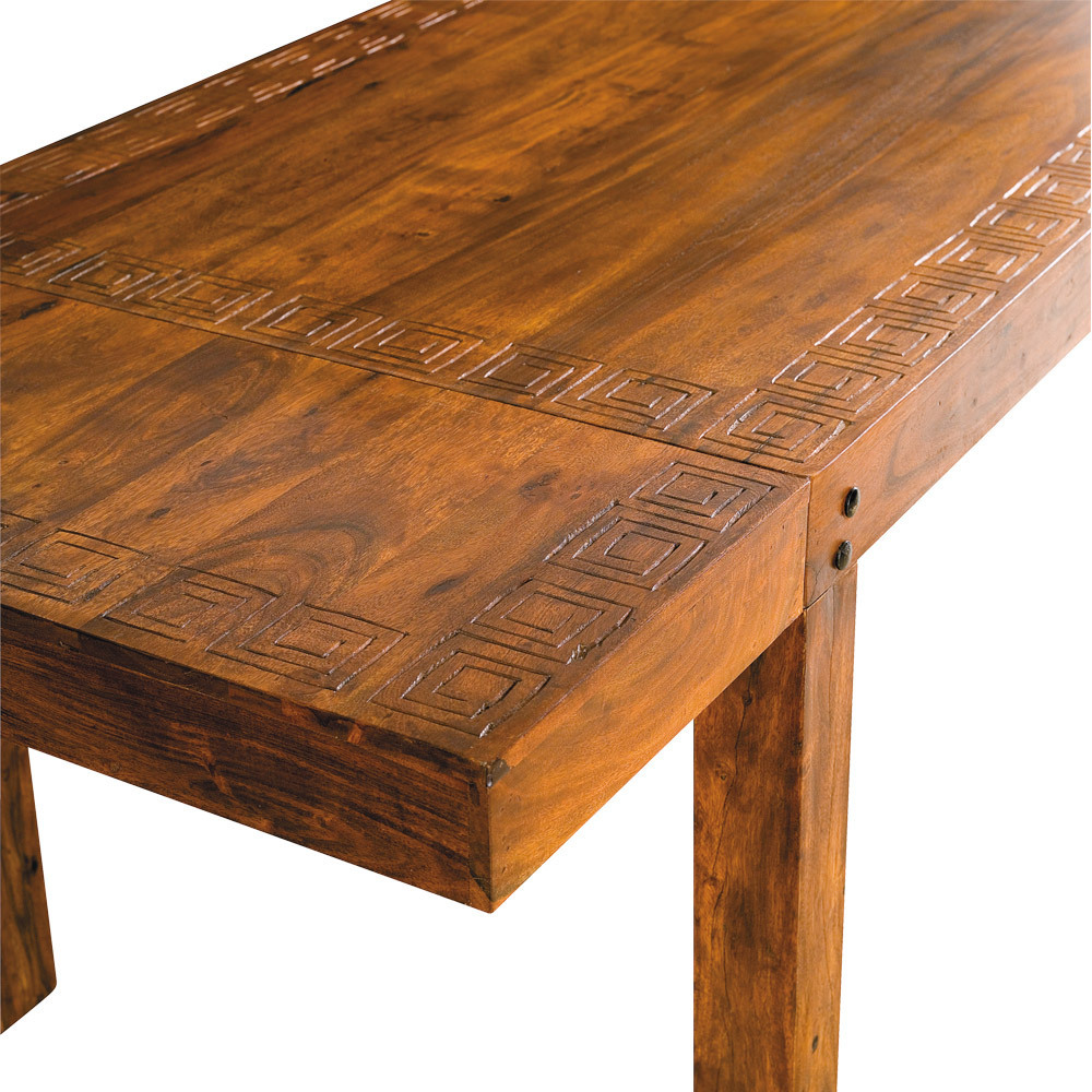 Tavolo etnico intarsiato da 120 tavoli orientali for Tavolo legno intarsiato