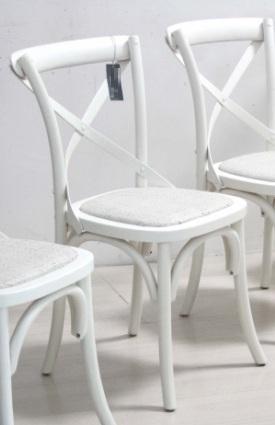 Sedia shabby bianca sedie provenzali legno shabby chic - Sedia legno bianca ...