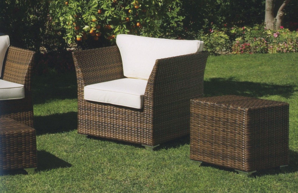 Poltrona rattan sintetico croco for Poltrone in rattan
