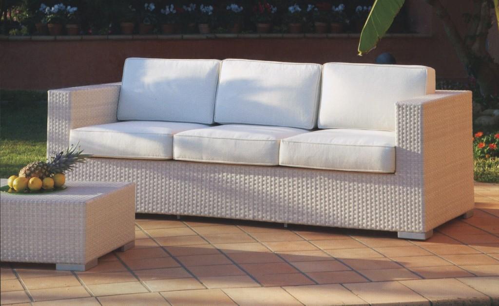 divano 3p bianco