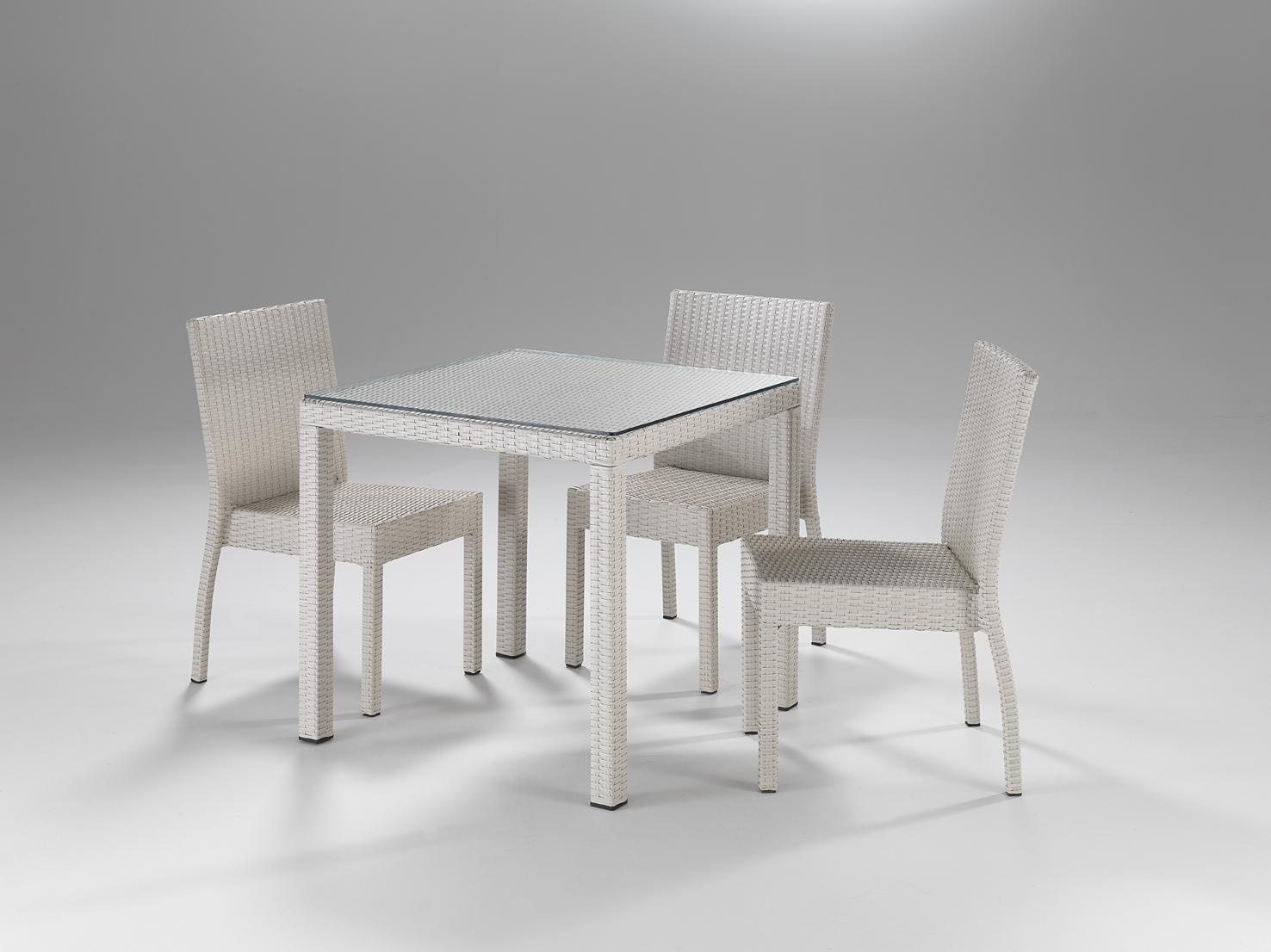 Tavolo quadrato Bianco - Etnico Outlet Mobili Etnici