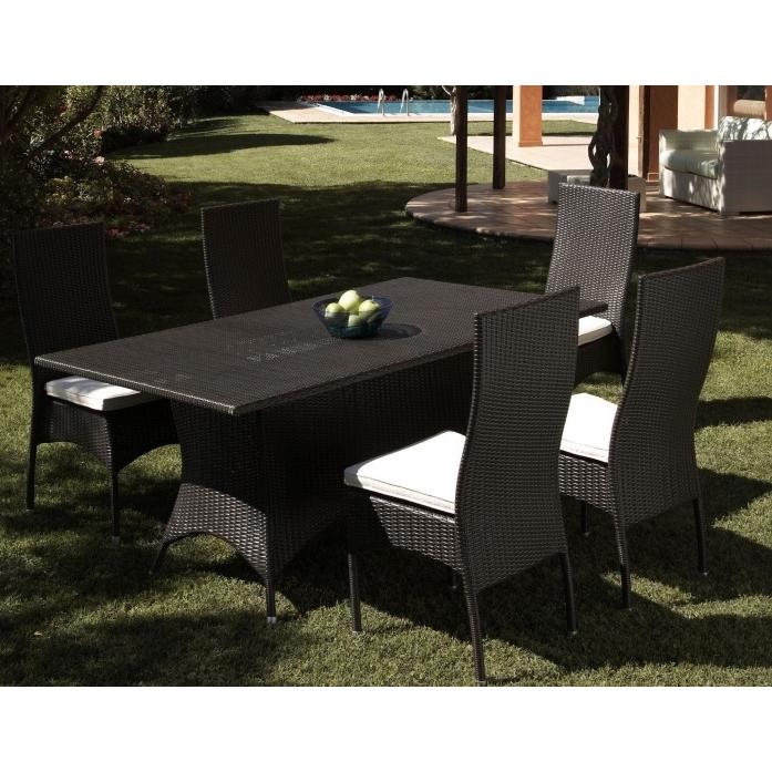 Set da giardino tavolo con sedie - Etnico Outlet Mobili Etnici