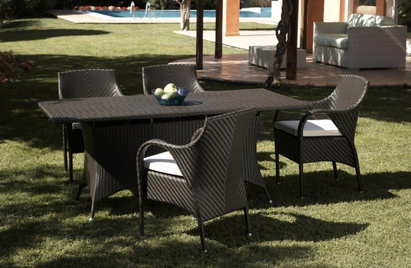 Set da giardino tavolo con sedie etnico outlet mobili etnici industrial shabby chic - Set tavolo e sedie da esterno ...