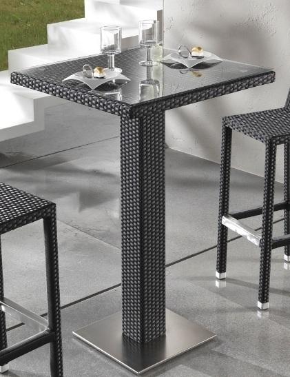 Tavolo bar nero per giardino etnico outlet mobili etnici for Mobili buffet bassi