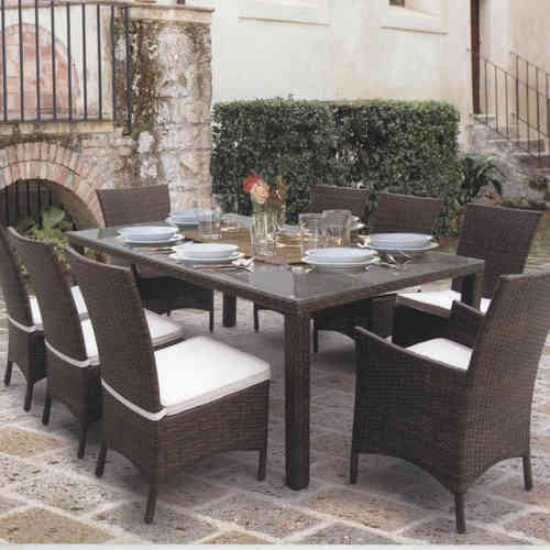 Tavolo da pranzo per giardino etnico outlet mobili etnici for Outlet giardino