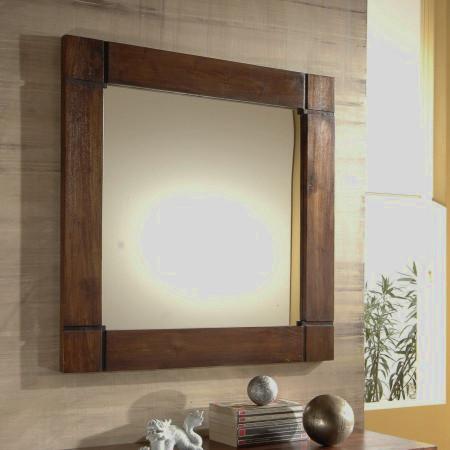Specchi etnici provenzali shabby chic industrial for Specchio bagno cornice legno