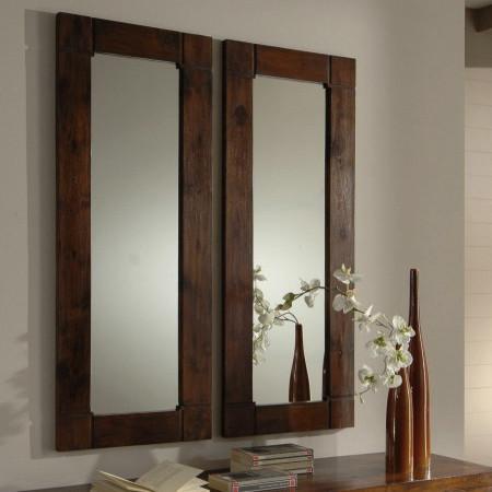 Specchio cornice legno teak etnico outlet mobili etnici for Lo specchio scuro