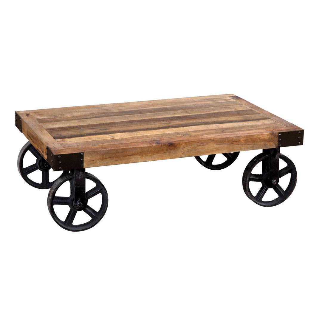 Tavolino industrial con ruote etnico outlet mobili etnici - Ruote per mobili vintage ...