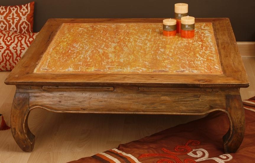 Tavolini Etnici Bassi : Tavolo basso opium legno etnico outlet mobili etnici