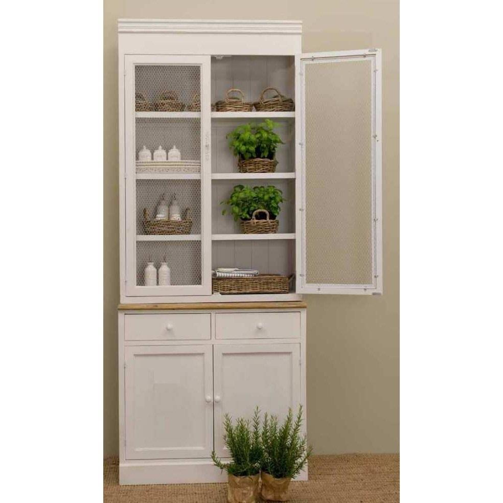 Credenza legno bianco shabby chic vetrine provenzali online - Cucina shabby ikea ...