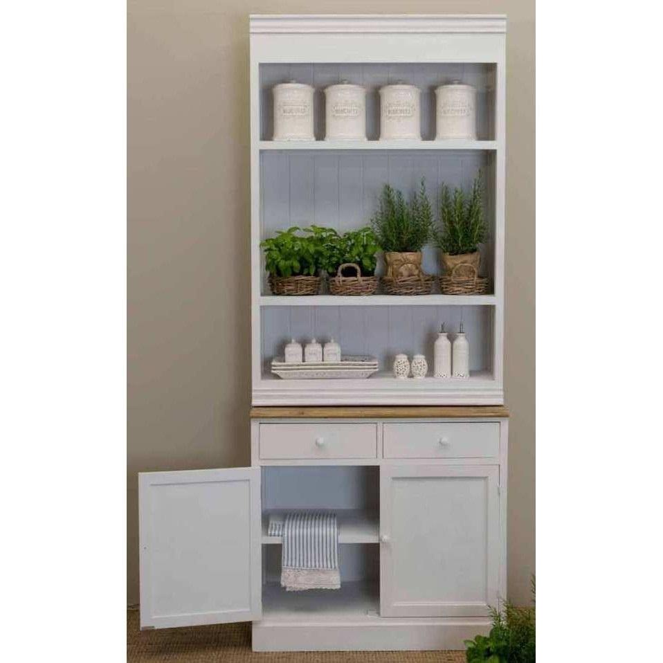 Credenza libreria legno bianco shabby outlet mobili etnici - Credenza ikea bianca ...