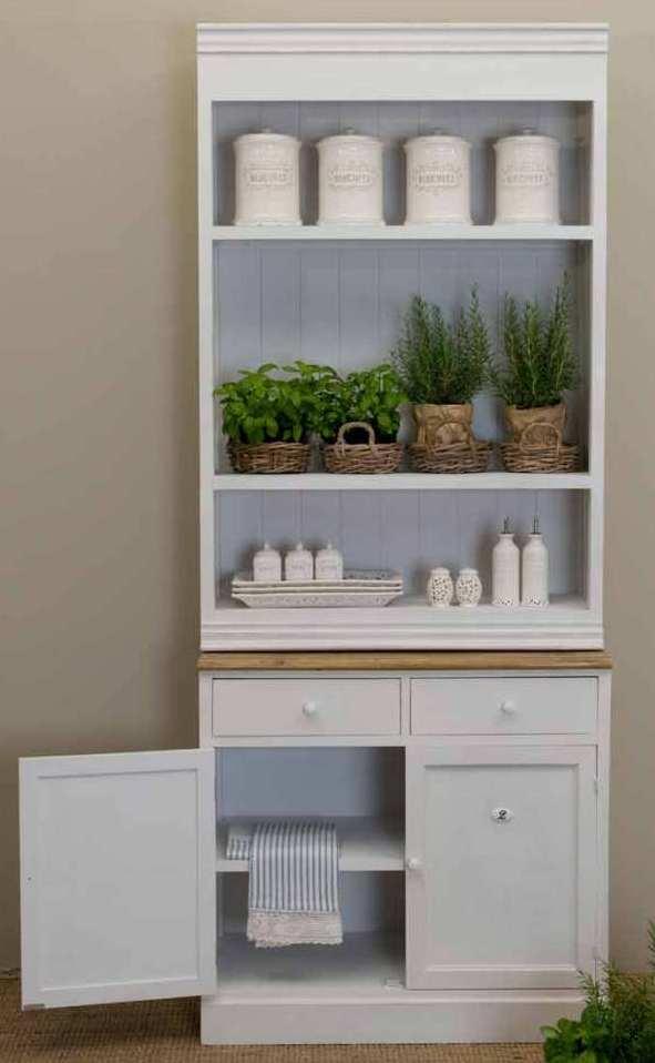 Credenza libreria legno bianco shabby outlet mobili etnici - Credenza bianca ikea ...