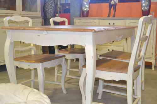 Tavolo provenzale bianco decapato mobili provenzali shabby - Decapare mobili ...