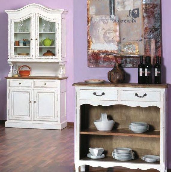 Vetrina provenzale legno bianco shabby mobili shabby offerte for Bianco e dintorni arredamento provenzale