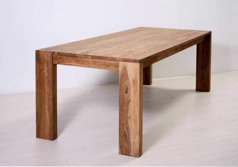 Tavolo etnico in legno naturale outlet mobili etnici for Tavolo legno naturale