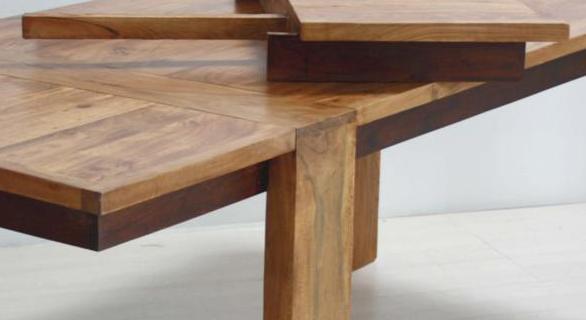 Tavolo coloniale legno naturale - Etnico Outlet mobili etnici