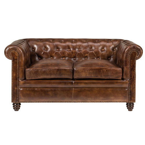 Divano Chesterfield in pelle