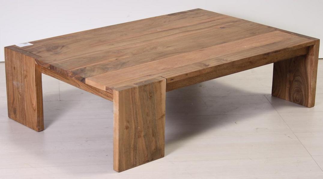 Tavolo etnico basso legno naturale tavolini legno - Tavolo legno naturale ...