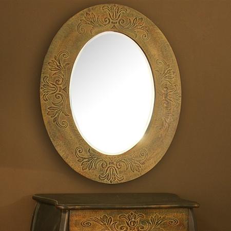 Specchio etnico ovale intarsiato specchi etnici orientali chic - Specchio ovale vintage ...