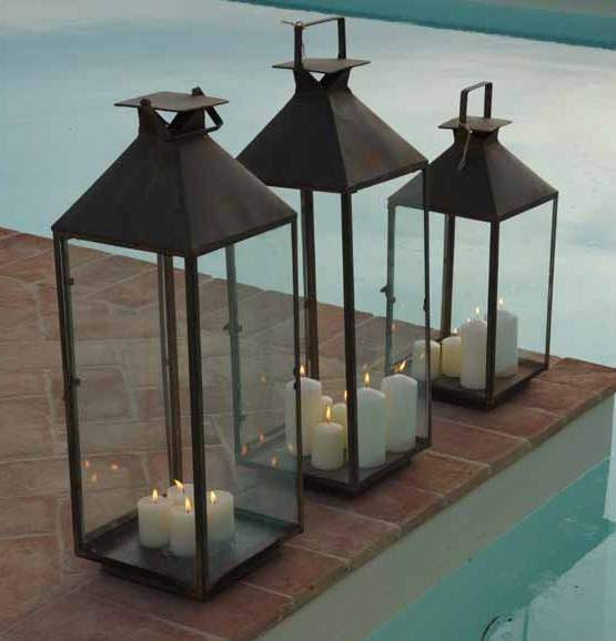 Lanterna metallo maxi mobili etnici provenzali shabby - Lanterne da giardino ikea ...