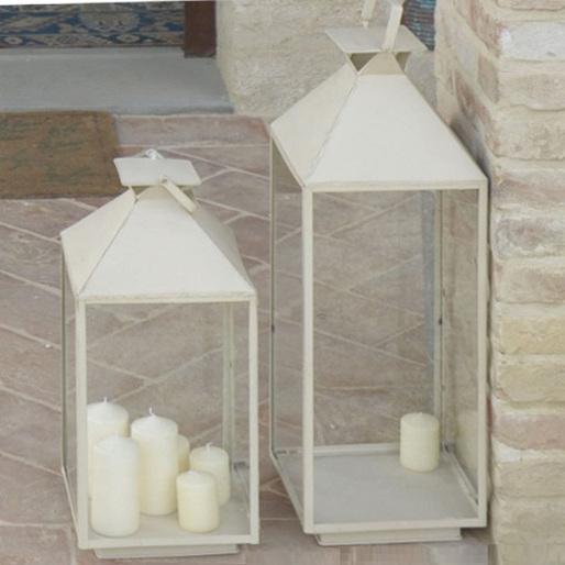 Lanterna ferro bianca maxi lanterne provenzali giardino - Lanterne da giardino ikea ...