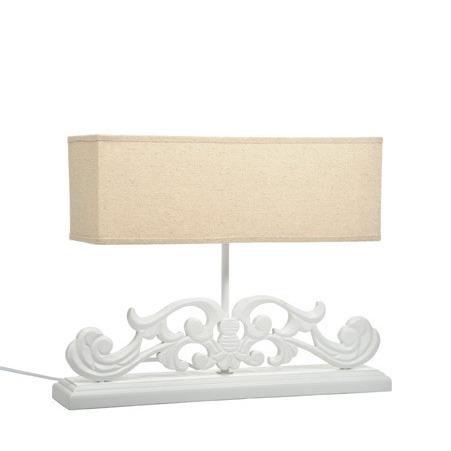 Lampada da tavolo legno bianca etnico outlet sito - Lampada da tavolo legno ...