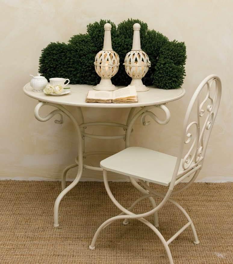 Tavolo provenzale in ferro tavoli provenzali giardino - Tavolo ferro giardino ...
