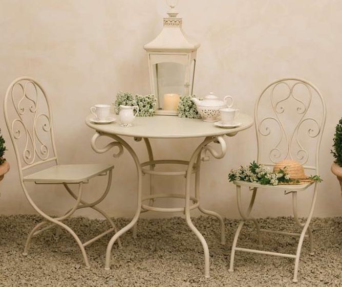 Sedia provenzale ferro avorio sedie giardino provenzali - Provenzale mobili ...