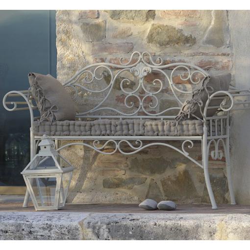 Divanetto provenzale ferro bianco - Etnico Outlet Mobili Etnici