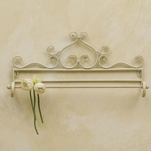 Porta asciugamano provenzale bianco - Mobili ferro battuto