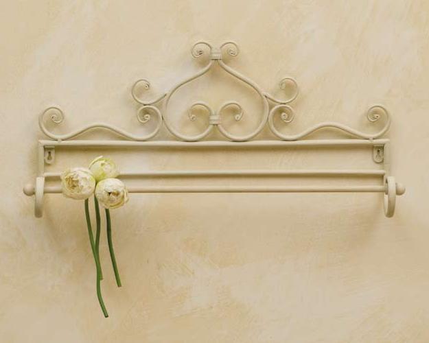 Porta asciugamano provenzale bianco mobili ferro battuto - Accessori bagno in ferro battuto ...