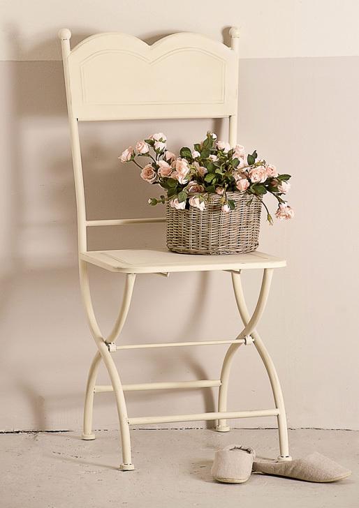 sedia pieghevole in ferro battuto bianca outlet mobili etnici