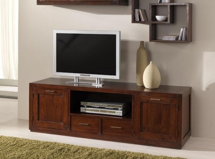 Composizione parete porta tv etnico teak outlet mobili etnici - Ikea mobile porta tv ...