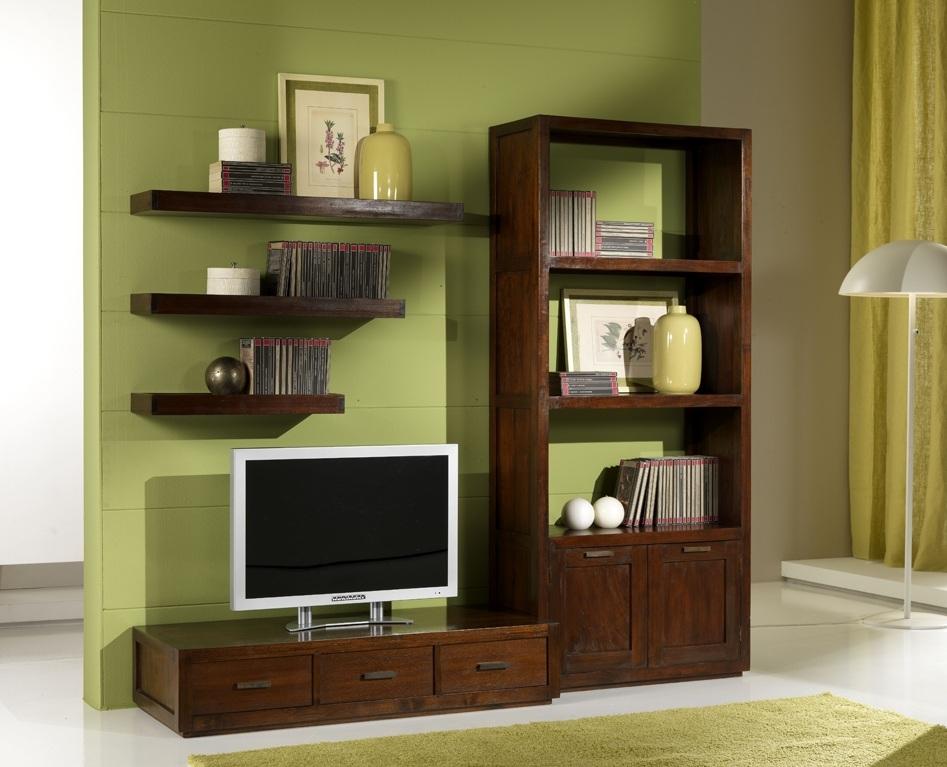 Libreria etnica legno massello teak etnico outlet mobili etnici