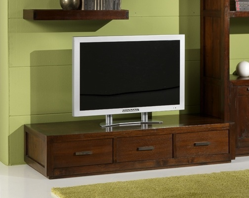 Mobile porta tv etnico in legno massello 120x50 h25 mobili for Cassettiere basse