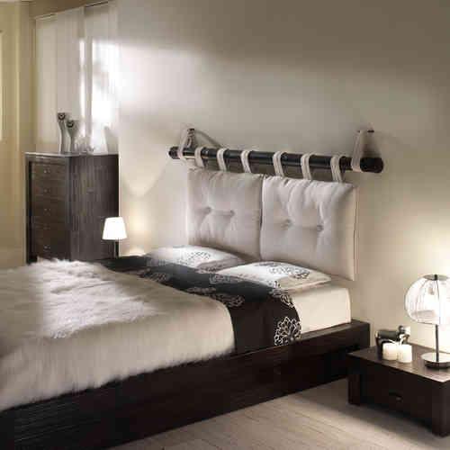 Letti etnici legno massello teak offerte on line su etnico - Testata letto cuscini ...